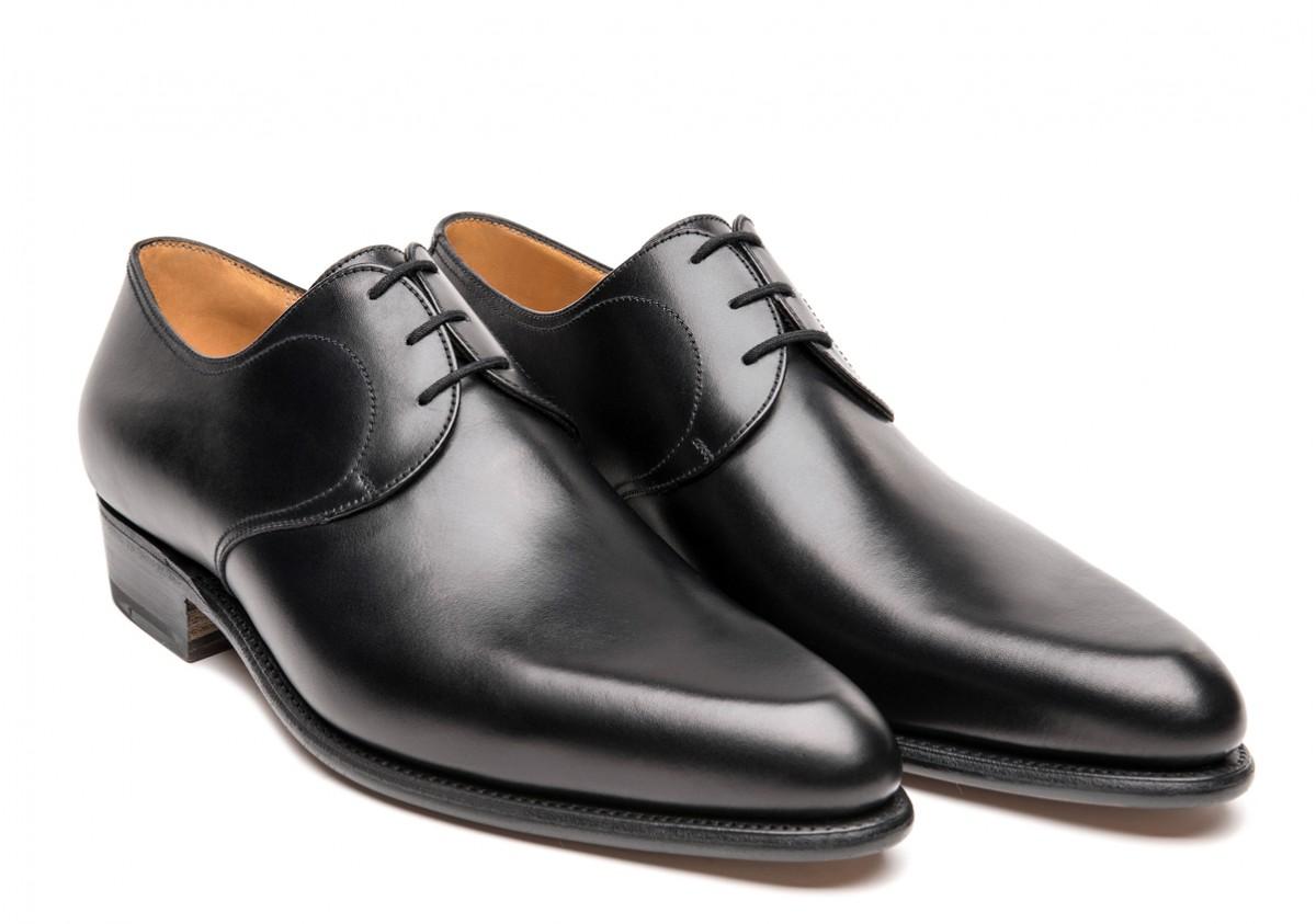 JM Weston black dress shoes