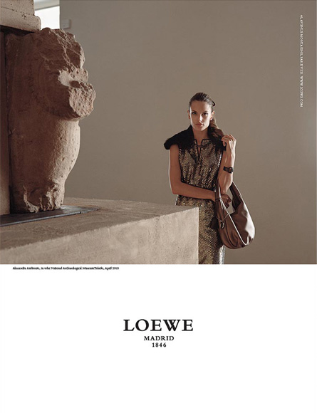 Loewe Fall 2010 Ad Campaign With Three Gorgeous Models
