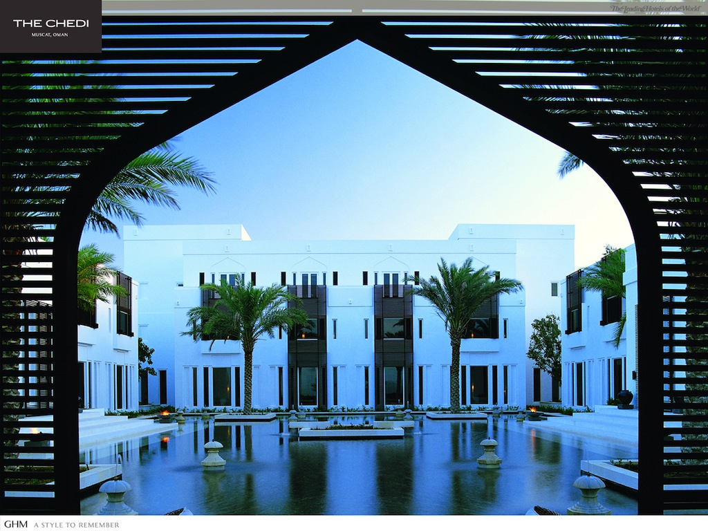 An arabian experience at the five star the chedi muscat for Designhotel oman