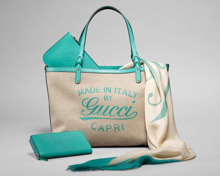 Gucci Summer 2011 limited edition linen tote bag  968cec44078c2