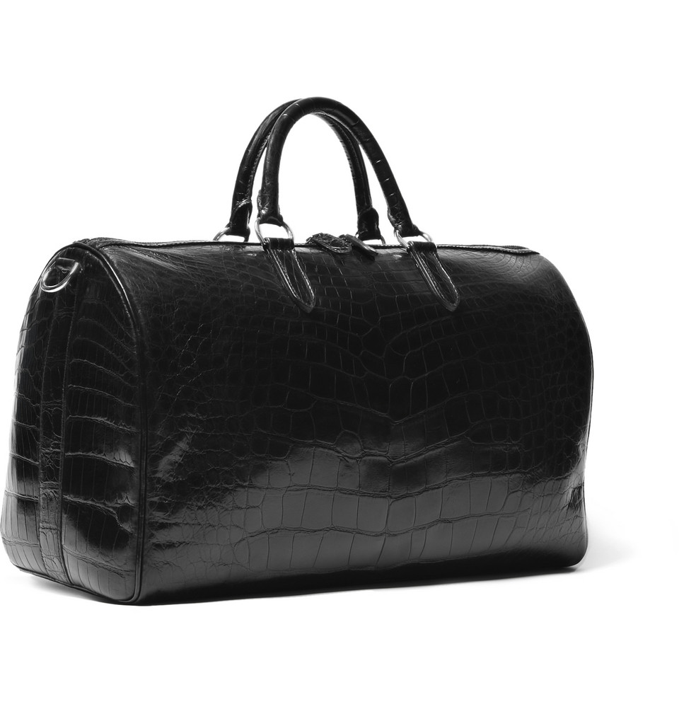 Ralph Lauren Purple Label All-Black Alligator Weekend Bag | Blog ...