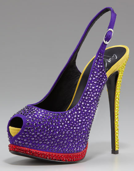 Giuseppe Zanotti colorful peep-toe