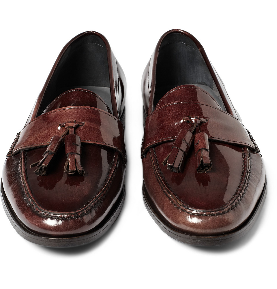 Lanvin Varnished Leather Loafers Wiki For Sale Buy Cheap Best Prices mJCgj