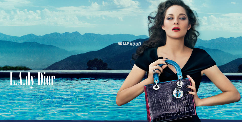 ac9d23f54e75 Marion Cotillard in Lady Dior handbag video