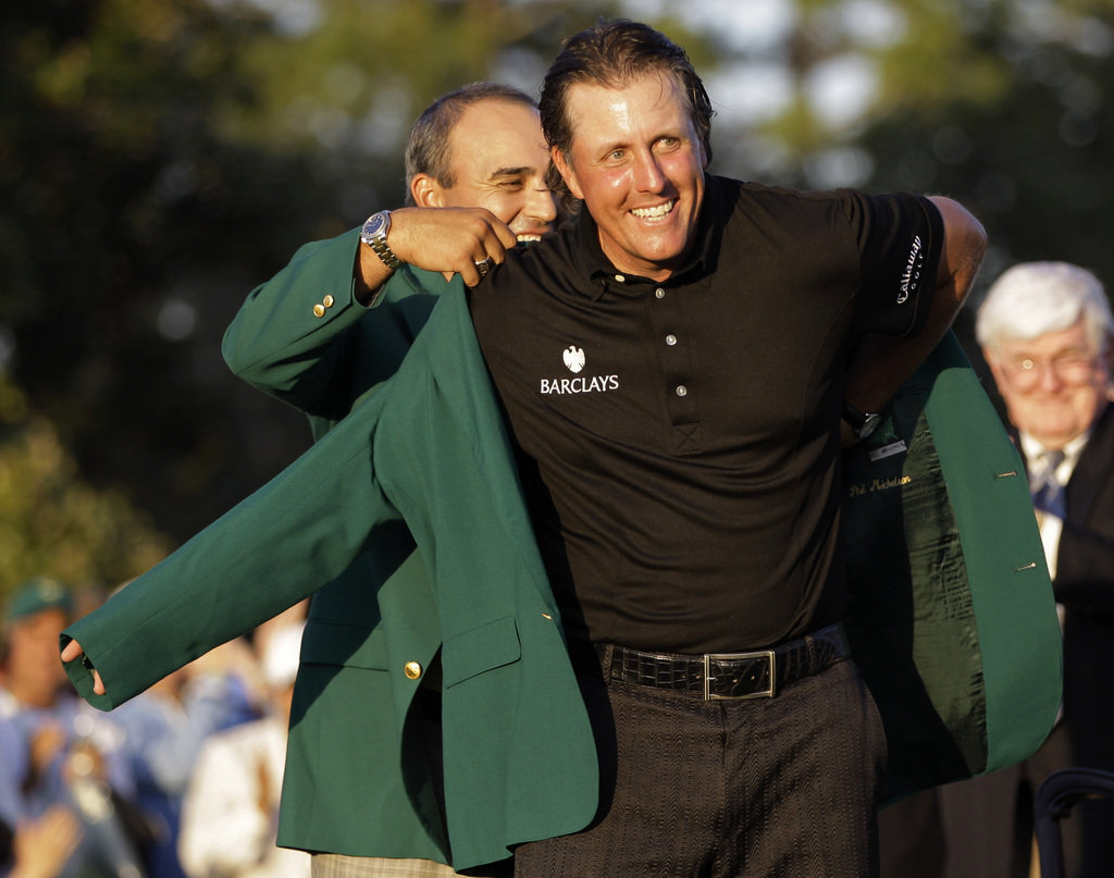 Phil Mickelson Green Jacket Masters Winner