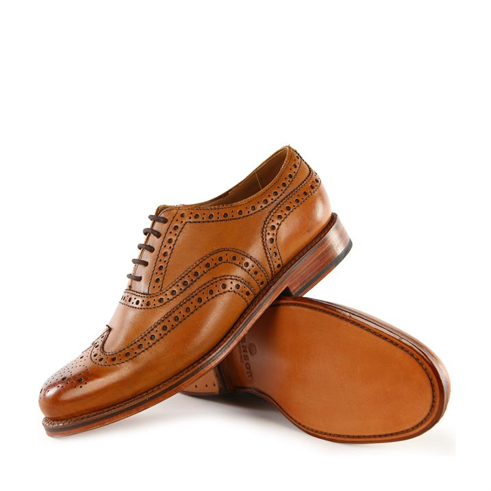 Grenson Stanley Tan Brogue Shoes pic 01