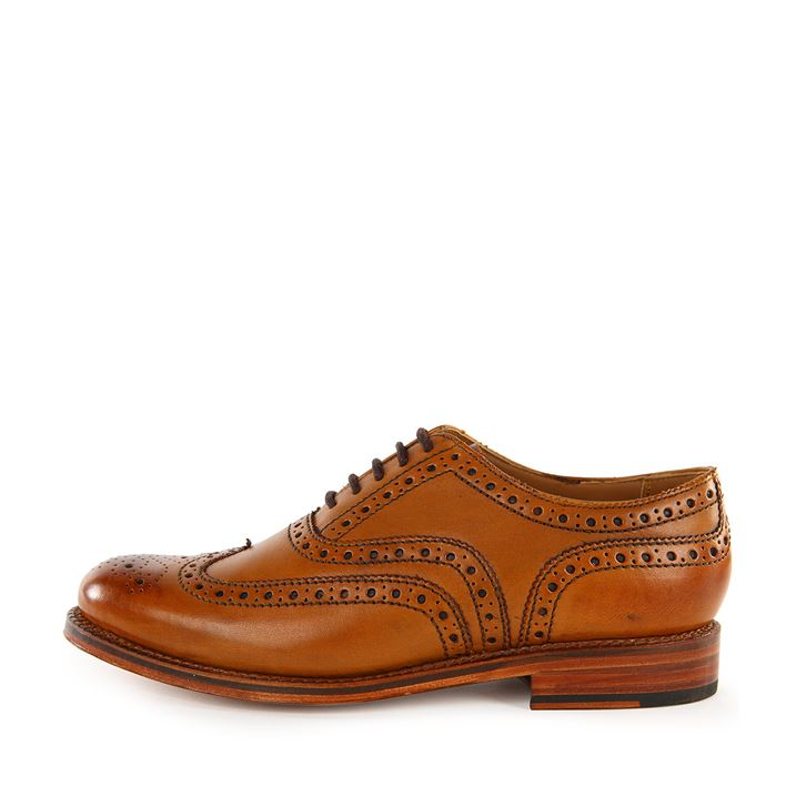 Grenson Stanley Tan Brogue Shoes pic 02