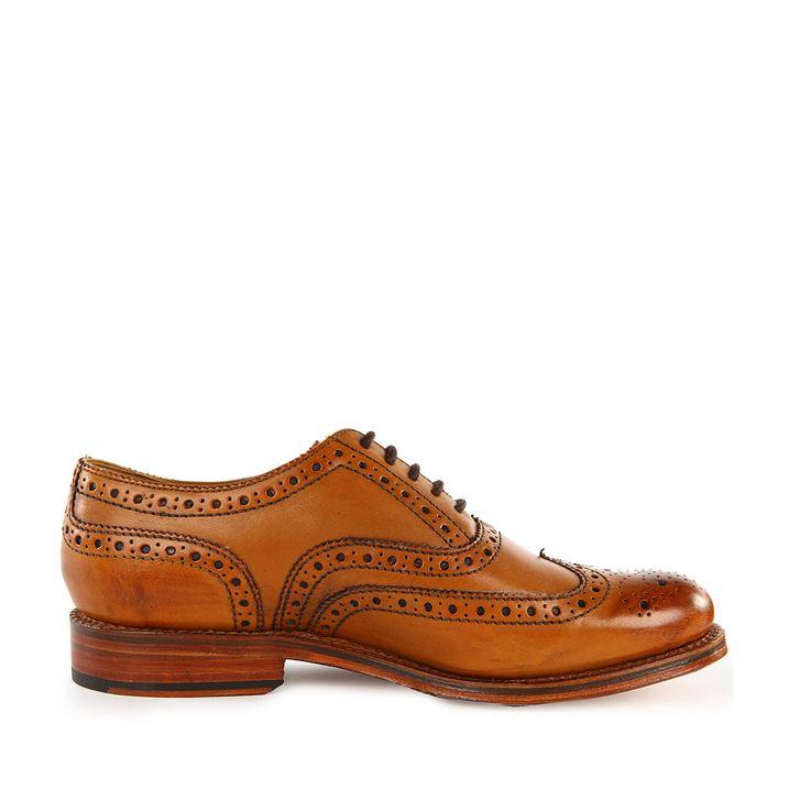 Grenson Stanley Tan Brogue Shoes pic 04