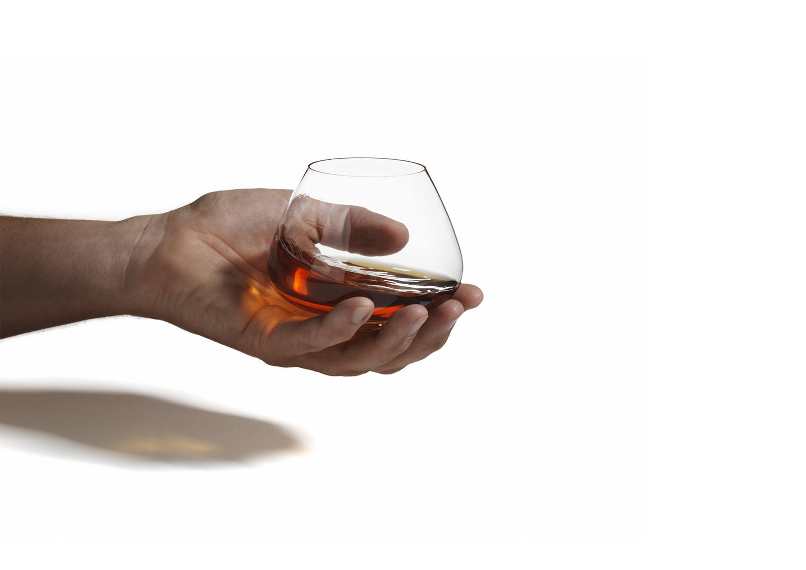 Normann Copenhagen Cognac Glasses by Rikke Hagen 01