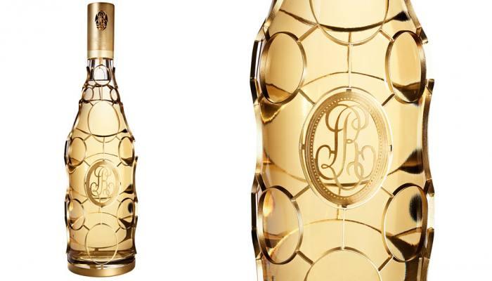 24k Medallion bottle Louis Roederer 2002 Cristal Jeroboam Champagne 04