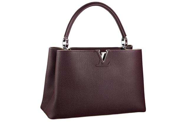 Louis Vuitton Capucine Bag Maroon