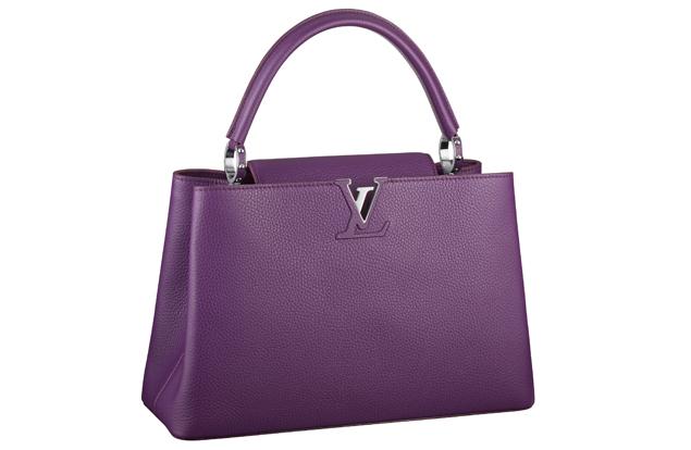 Louis Vuitton Capucine Bag Purple