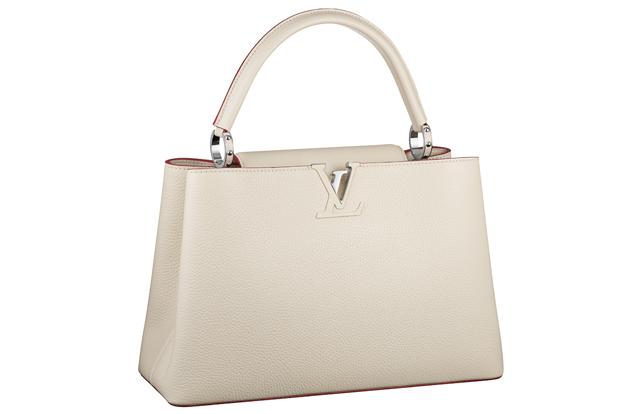 Louis Vuitton Capucine Bag white