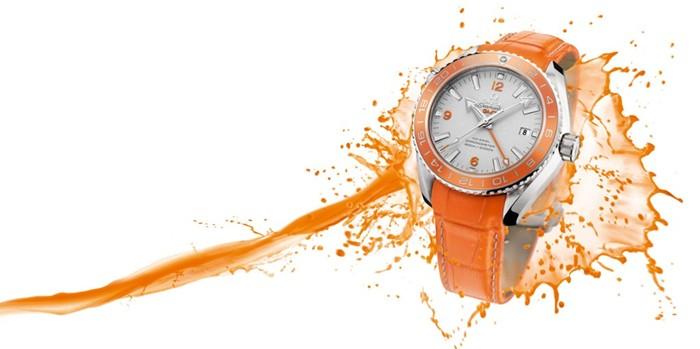 Omega Seamaster Planet Ocean Orange Ceramic Watch 01