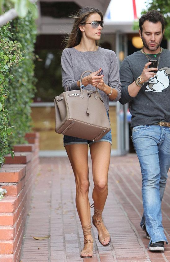 Alessandra Ambrosio Hermes Birkin Bag
