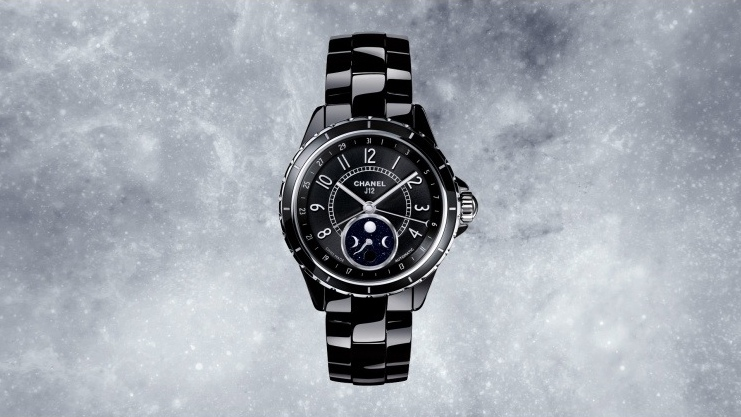 Chanel J12 Moonphase watch in black ceramic