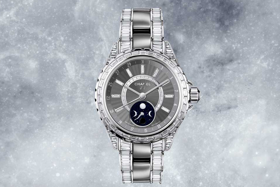 Chanel J12 Moonphase watch in diamonds