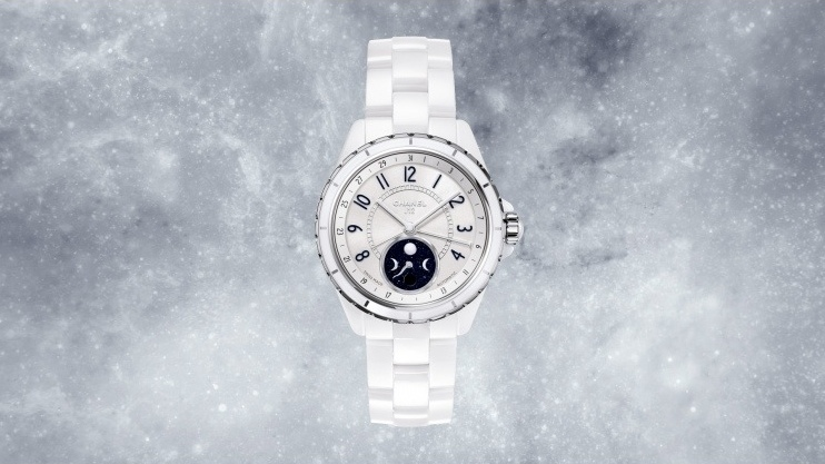 Chanel J12 Moonphase watch in white ceramic