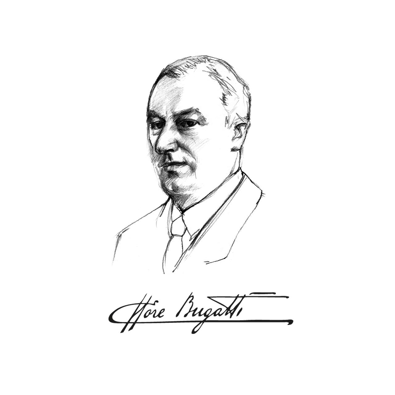 Ettore Bugatti design Sketch
