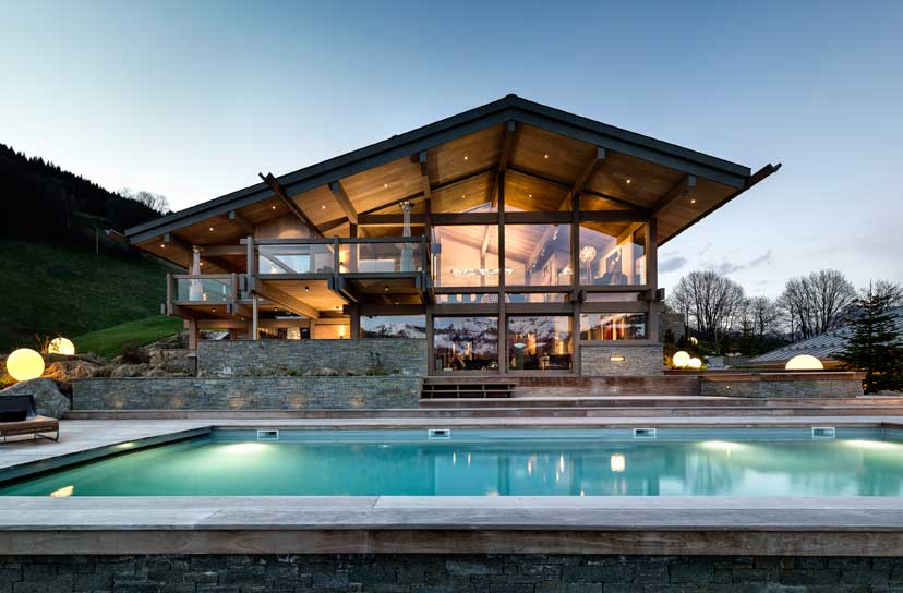 Ultra luxurious chalet Mont Blanc in Megeve France 01