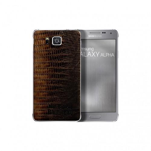 Samsung Galaxy Alpha Alligator Leather back Cover 02