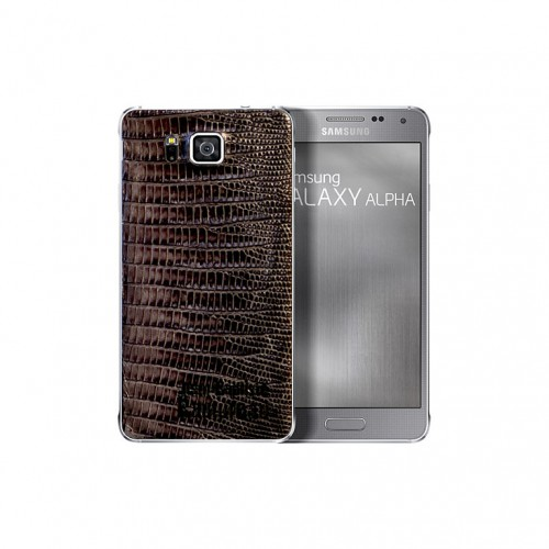 Samsung Galaxy Alpha Alligator Leather back Cover 03