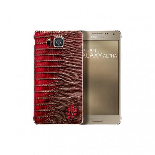 Samsung Galaxy Alpha Alligator Leather back Cover