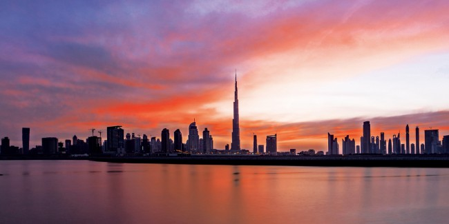 Dubai view from the Oberoi Dubai Hotel