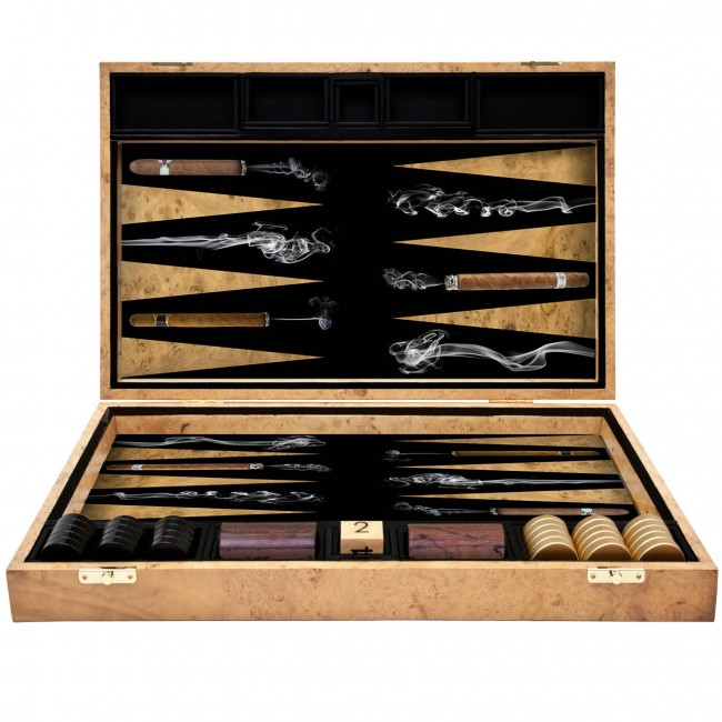 Alexandra Llewellyn Cigar Backgammon Board pic 01