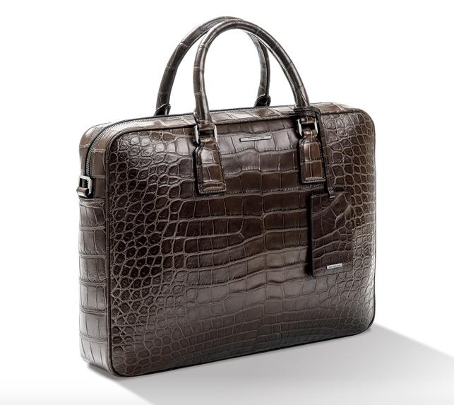 Zegna Limited Edition Alligator Briefcase