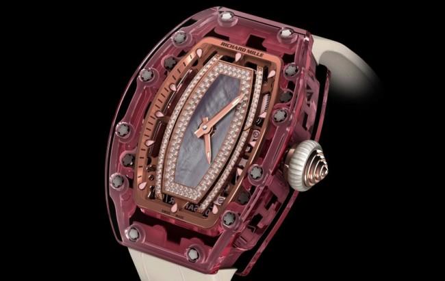 Richard Mille 1 Million Dollar Lady Pink Sapphire Watch