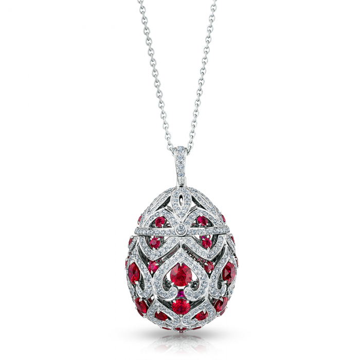Zenya Ruby Egg Pendant by Faberge