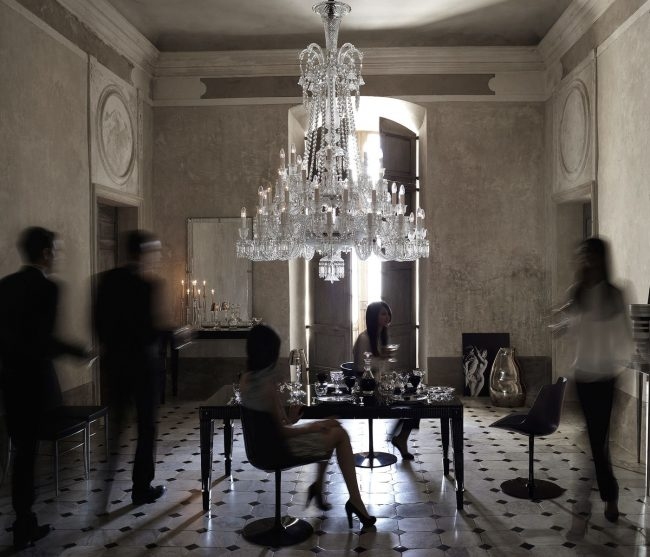 The 48 lights Zenith Chandelier by Baccarat