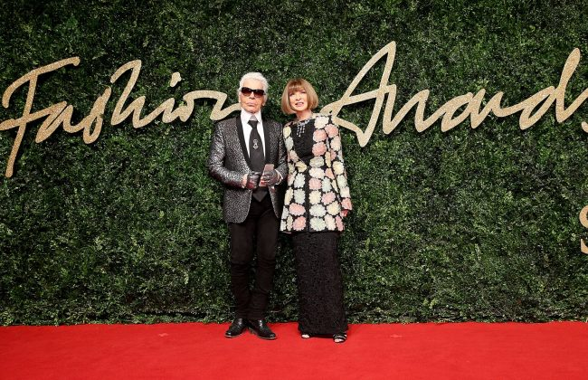 british_fashion_awards_red_carpet_karl_lagerfeld_anna_wintour