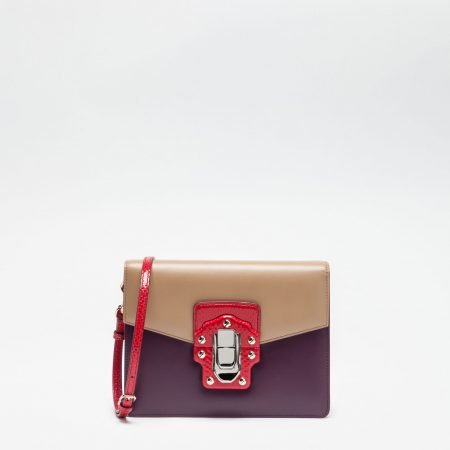 Lucia shoulder bag in leather and ayers 01