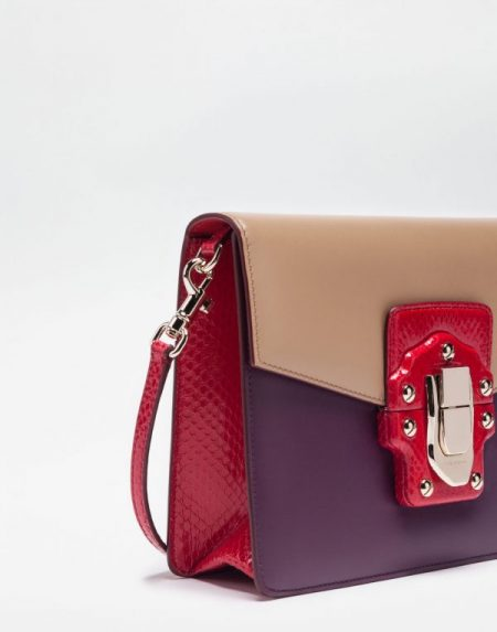 Lucia shoulder bag in leather and ayers 02